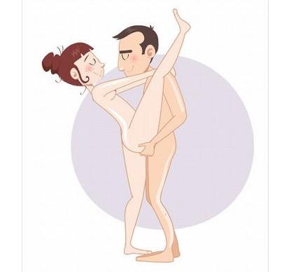 "Камасутра. Поза ""Похотливая балерина""."
