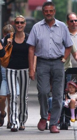 Хайди Клум  с отцом.