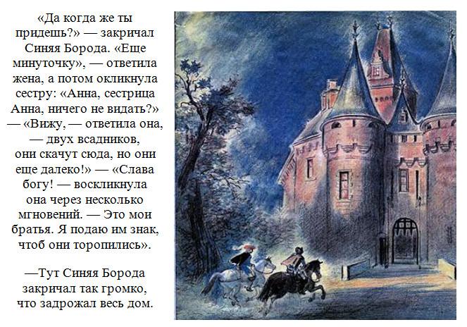 """Иллюстрации к сказке """"Синяя Борода"""". 10."""