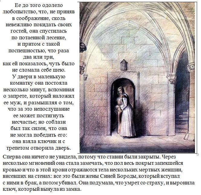 """Иллюстрация к сказке """"Синяя Борода"""" 6."""